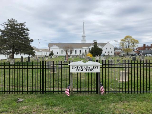 Picture of the cemetery with the church in the background